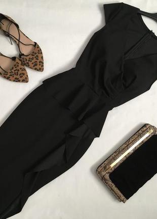 Элегантное платье миди с оборкой италия