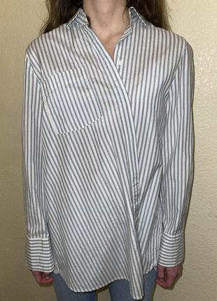 Шелковая рубашка h&m