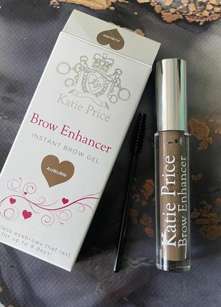 Помадка гель для бровей katie price brow enhancer brow gel auburn