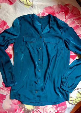 Рубашка сине-зеленого цвета