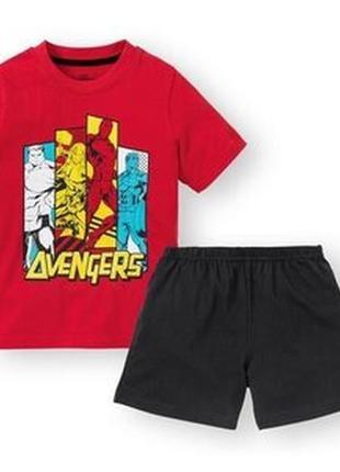 Пижама для мальчика футболка и шорты marvel 110/116