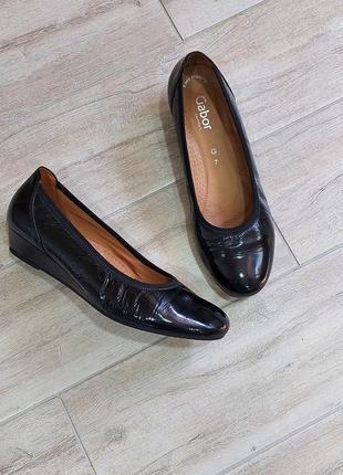 Кожаные туфли gabor 41 р.