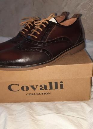 Модные туфли бренда сovalli. натуральная кожа
