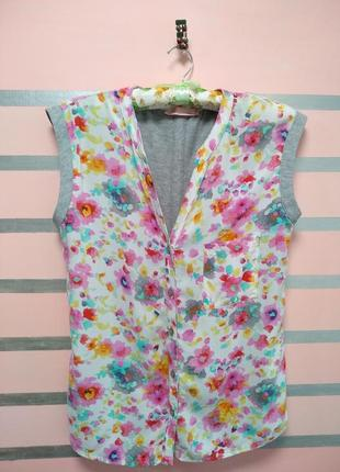 Комбинированная блуза, рубашка,футболка colin's