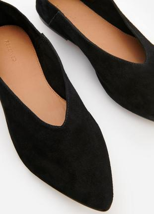 Стильные замшевые туфли лоферы балетки.