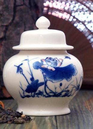 Чайница для хранения чая фаянс