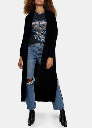 Женский длинный черный кардиган topshop 9014667