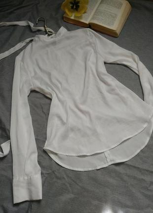 Белая блузка mango3 фото