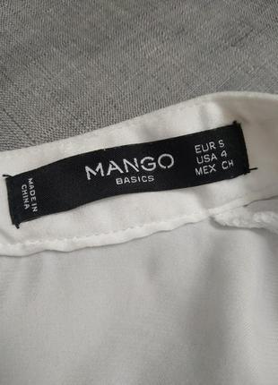 Белая блузка mango2 фото
