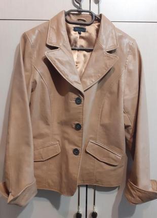 Пиджак кожаный visual