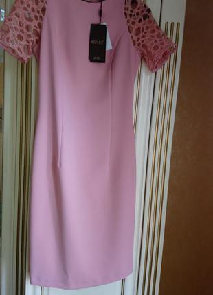Нарядное платье цвета пудры
