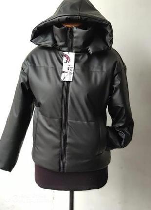 Эко кожа женская молодежная курточка бомбер