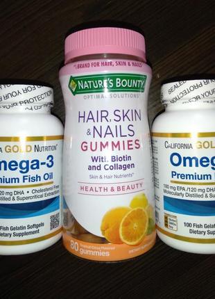 Омега 3 коллаген витамины для волос, ногтей и кожи с коллагеном