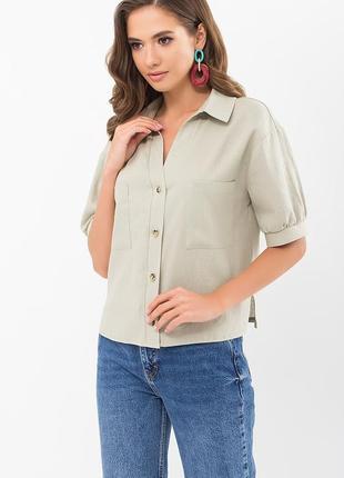 Блуза - лен/вискоза (3 цвета)