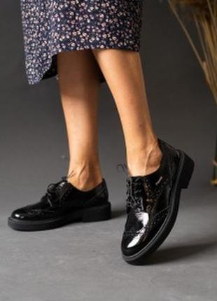 Натуральная кожа! классические туфли чёрные2 фото