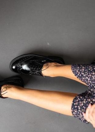 Натуральная кожа! классические туфли чёрные5 фото