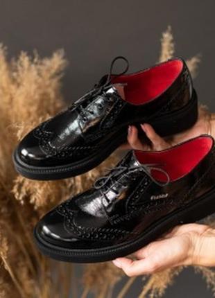 Натуральная кожа! классические туфли чёрные
