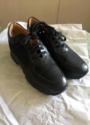 Кожаные ботинки кроссовки итальянского производства
