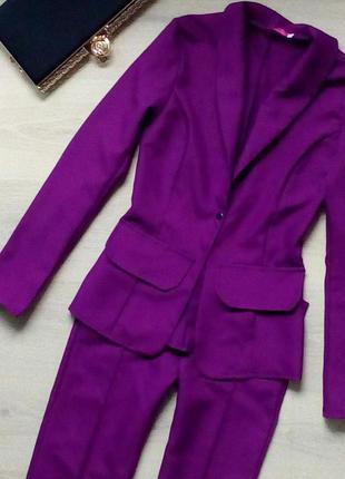 Стильний костюмчик сливового цвета