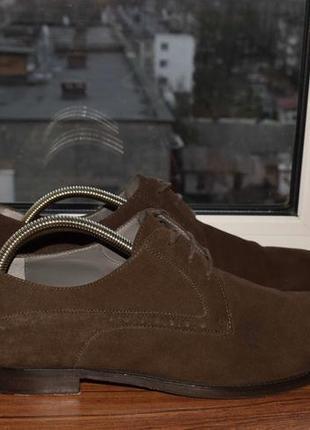 Hugo boss derby мужские замшевые туфли