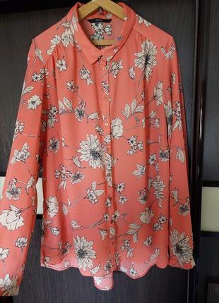 Рубашка с длинным рукавом в цветочный принт george