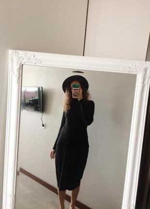 Сукня в рубчик з вузлом спереду f&f