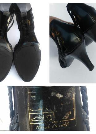 Hugo boss  кожаные черные босоножки  на каблуке италия6 фото