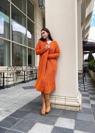 Кардиган пальто оверсайз люкс качество шерсть3 фото