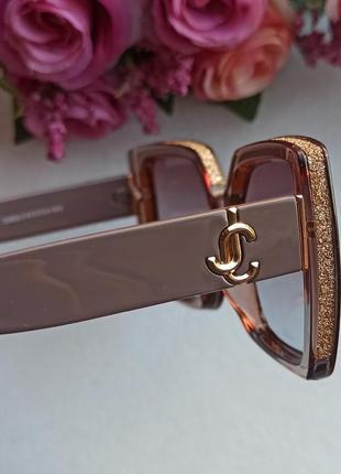 Новые крутые солнцезащитные очки с блеском по бокам, нюдовые