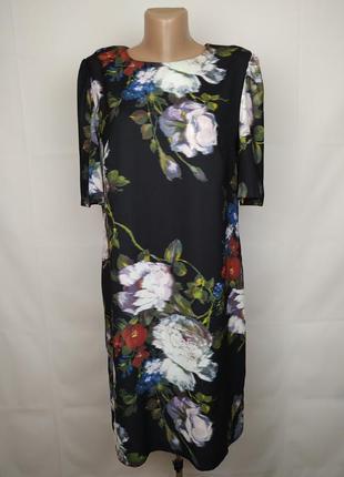 Платье шикарное в цветочный принт marks&spencer uk 12/40/m