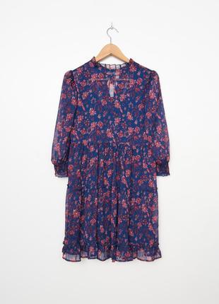 Шифоновое платье в цветы
