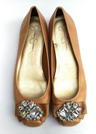 Jessica simpson балетки с камнями 38 размер