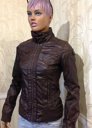 Куртка - кожзам, bershka, размер s