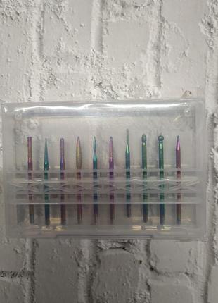 Фреза набір фрез для нігтів манікюру фрезы для ногтей маникюра фрези фреза