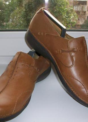Туфли женские натуральная кожа clarks р.40