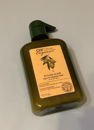 Глазурь для укладки вол chi olive organics 340 мл1 фото