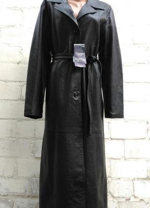 Кожаное пальто imaestry италия