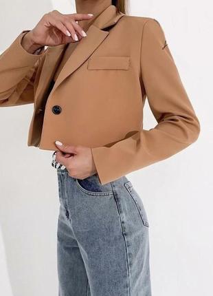 Укороченый пиджак жакет7 фото