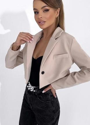 Укороченый пиджак жакет2 фото