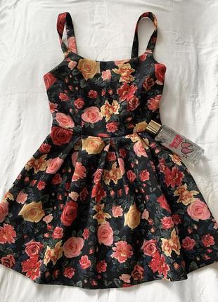 Мини платье в цветы тренд лета 2021 forever 21