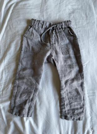 Льняные штаны на мальчика zara kids лён 98 см