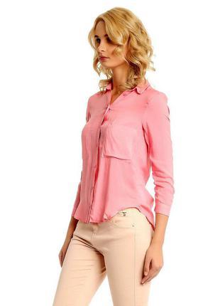 Коралловая блуза-рубашка ,блузка розовая,персиковая bershka