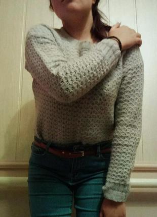 Серый свитер stradivarius