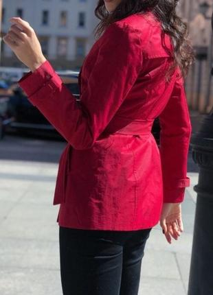 Тренч плащ пиджак с воротником стоечкой красный nexx