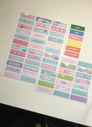 Набор стикеров от orner - oh my book для блокнота