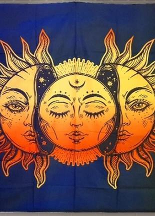 Картина на ткани панно солнце в солнце