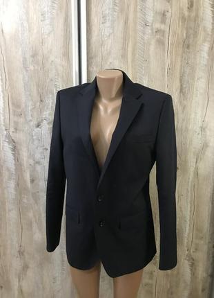 Мужской пиджак zara man жакет шерстяной шерсть натуральная