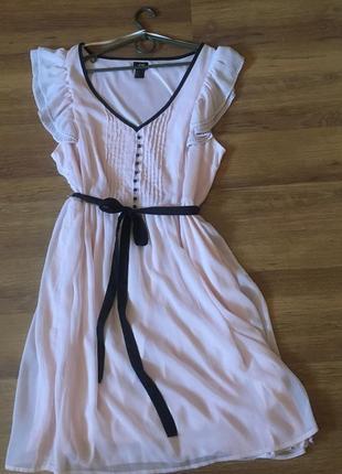 Очаровательное платье из шифона от h&м р.50-52 (uk 16)