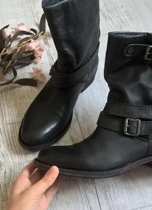 ee66f448 Hilfiger denim-мега крутые сапоги,ботинки,полусапоги-кожа-черные-деми