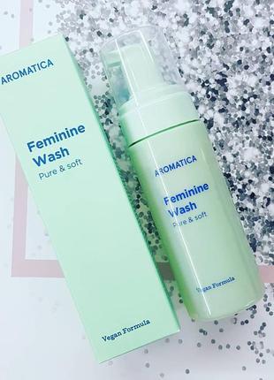 Нежная пенка для интимной гигиены aromatica feminine wash